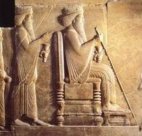 Darius with Son Xerxes behind him