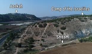David & Goliath army and stream locations