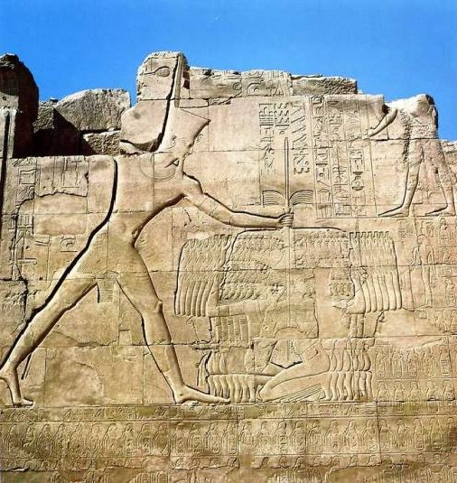 Exodus-Tut-Mosis III-1457 BC smiling at enemies at Megiddo