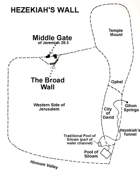 Hezekiah's wall map