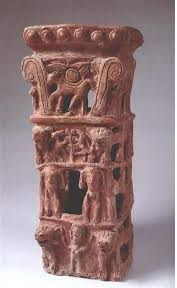 Incense stand from Taanach in Israel Museum