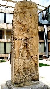 Neo-Hittite storm god Tarhunzas in Aleppo museum.