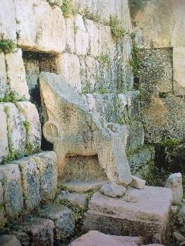 Sidon-Beirut-Astarte throne in Eshmun Temple